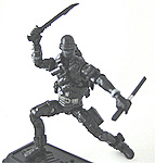 Snake-Eyes with pinuté short sword and ninja-to