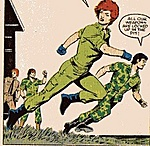 Spirit and Quick-Kick in military fatigues