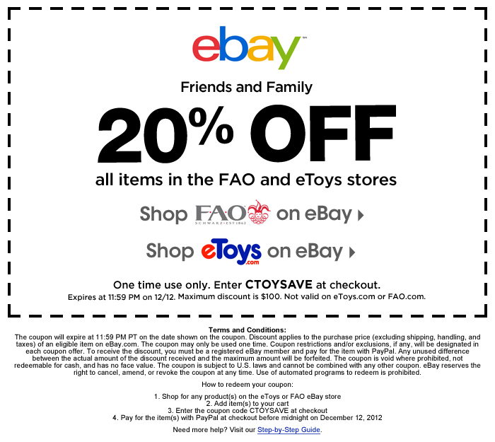 Ebay discount coupons 2018