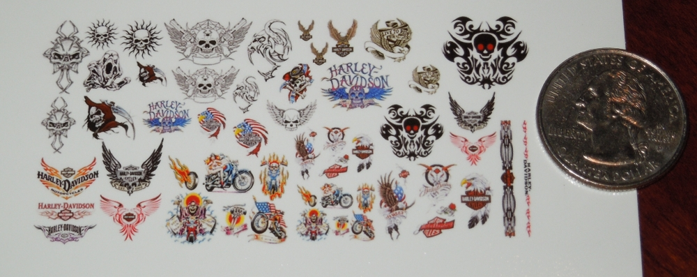 Waterslide Decals Dragons variety pack 1//6 Scale Custom Tattoos