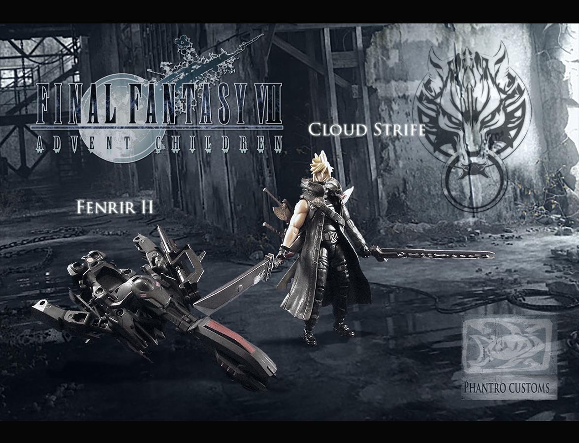 Final Fantasy Vii Cloud Strife And Fenrir Custom 3 75