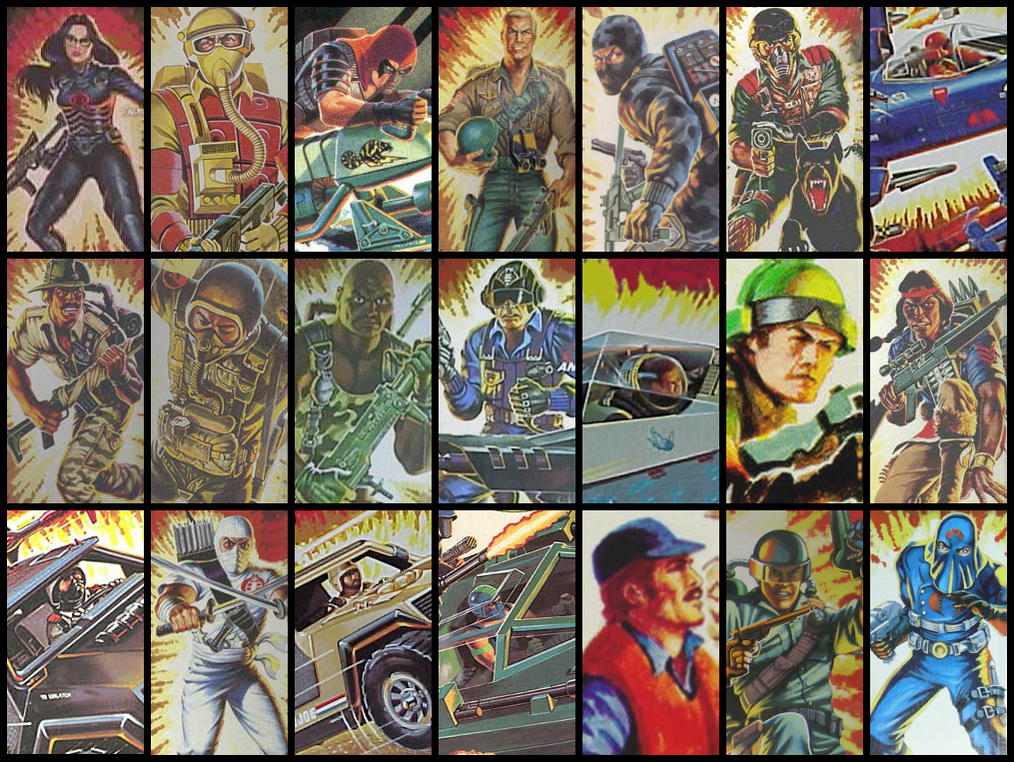 Wallpapers With GI Joe Cards 82 To 87 1984 2