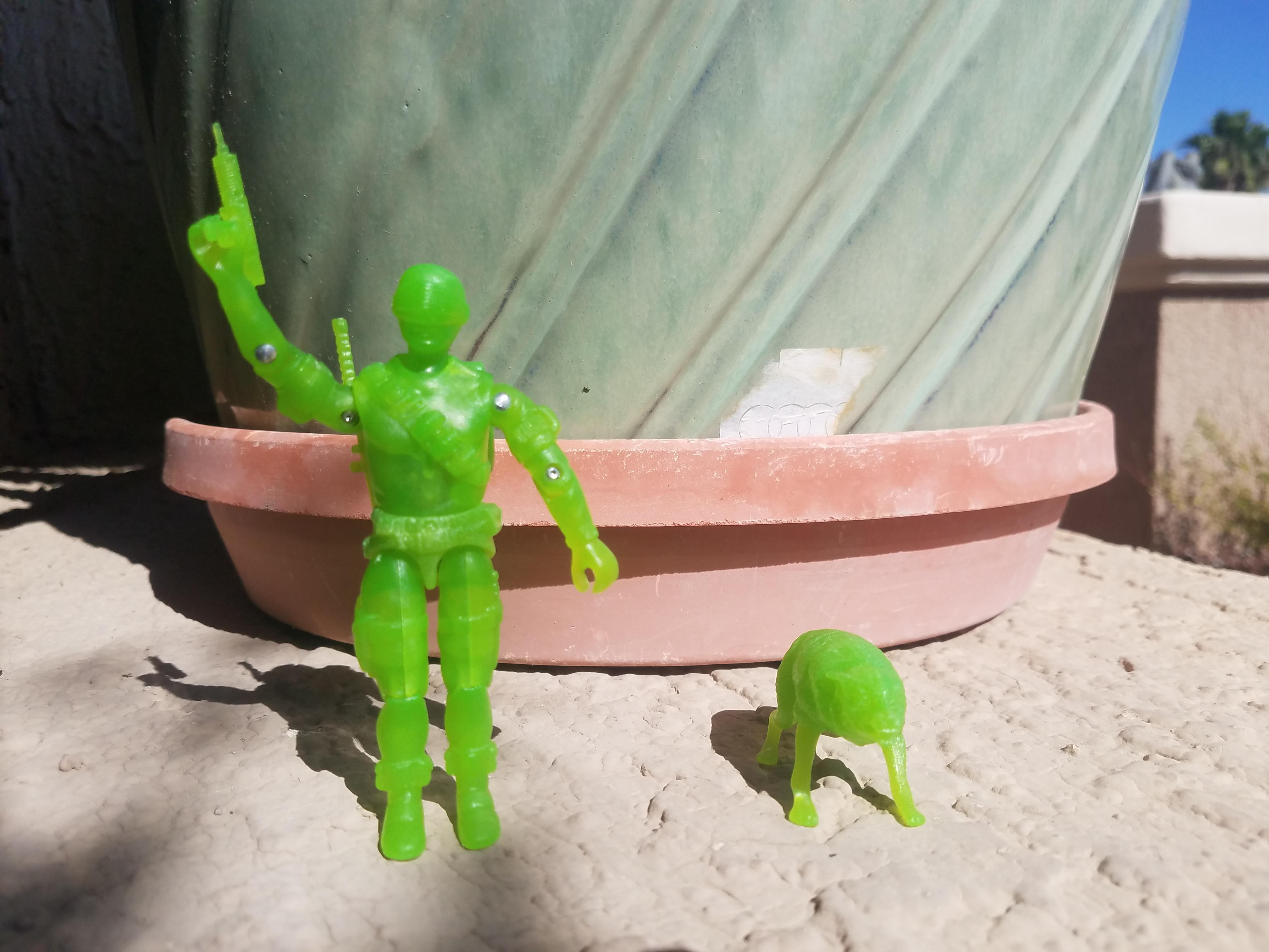 Gi Joe Black Major Snow Serpent Green Glow in the Dark Build it yourself