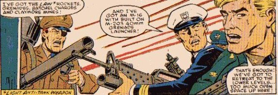 The ranking brass from issue #53 - General Ryan, Admiral Dyson and Hawk