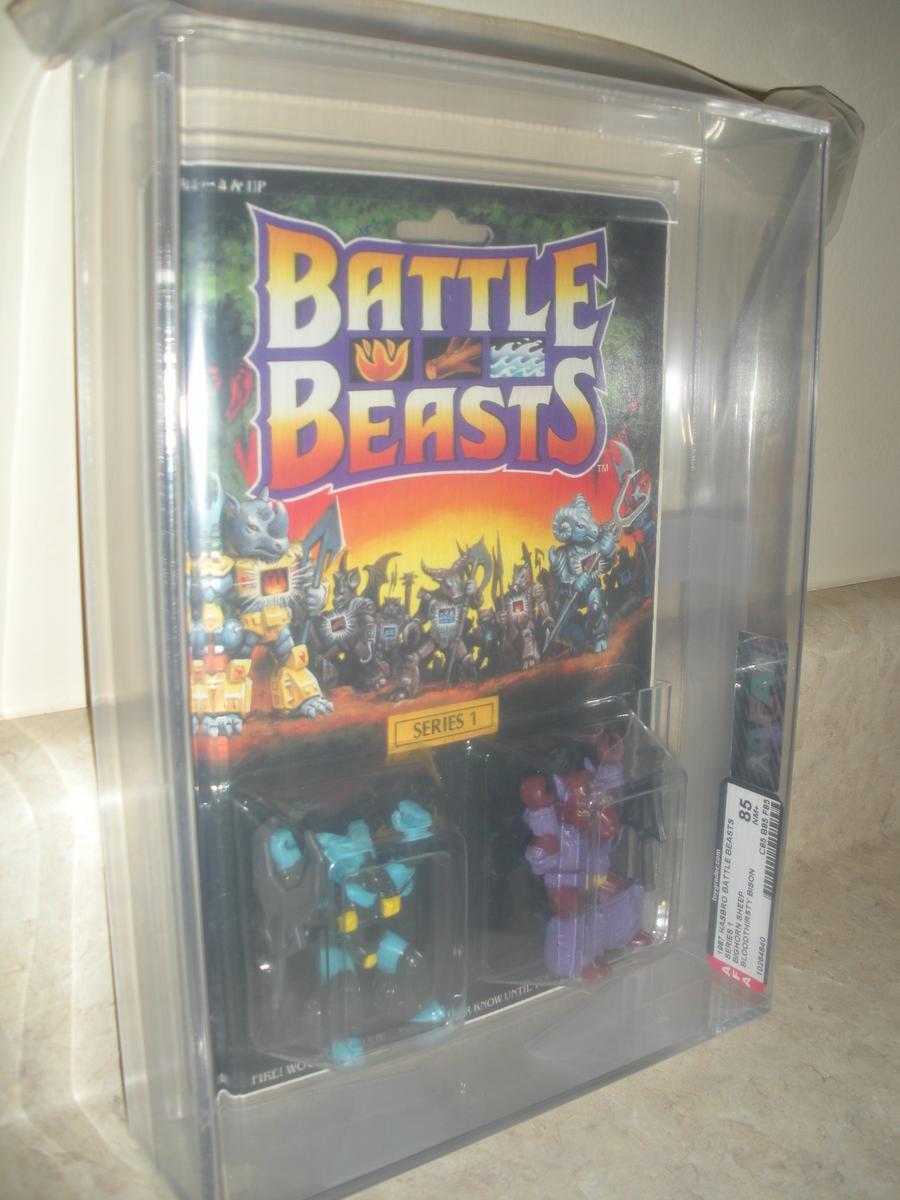 Battle Beasts 1986 Series 1 Bighorn Sheep/Bloodthirsty Bison AFA 85